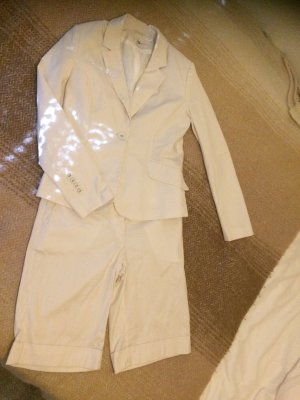 H&M Pinstripe Suit white-light brown