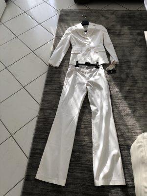Mango Traje de pantalón blanco