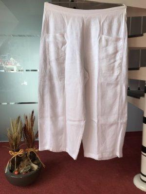 Pantalón de lino blanco puro