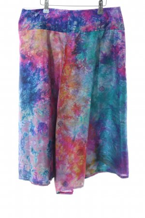 Culotte Skirt spots-of-color pattern extravagant style