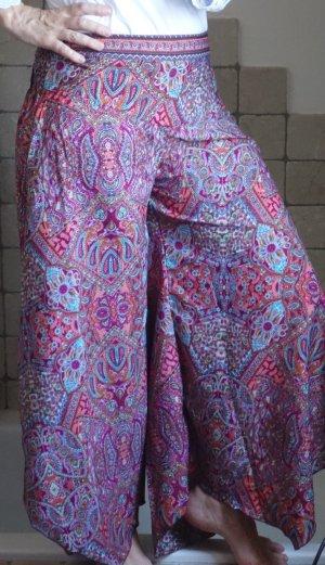 Pantalón de campana multicolor Seda