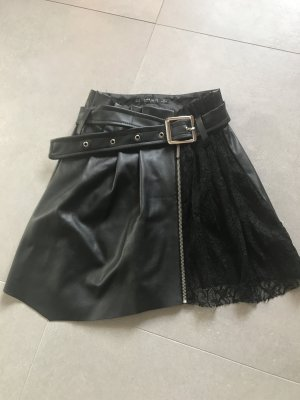 Zara Basic Culotte Skirt black