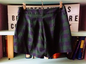 Zara Gonna culotte verde scuro-blu scuro