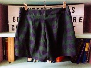 Zara Falda pantalón verde oscuro-azul oscuro