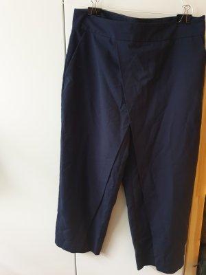 Zara Pantalone culotte blu-blu scuro
