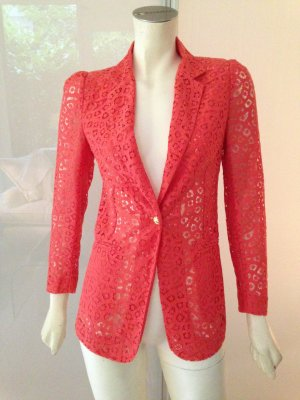Hoss Intropia Blazer Jacke Orange Rot Spitze Baumwolle Jacket Coral Red Cotton S
