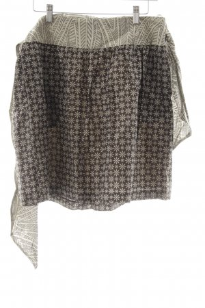 Hoss Intropia Flared Skirt cream-brown mixed pattern