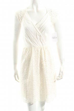 Hoss Intropia Kurzarmkleid creme Romantik-Look