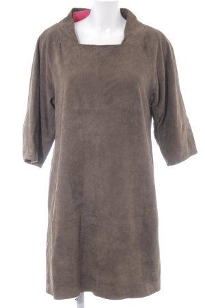Hoss Intropia Leren jurk groen-grijs casual uitstraling