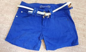 55 DSL Hot pants wit-blauw