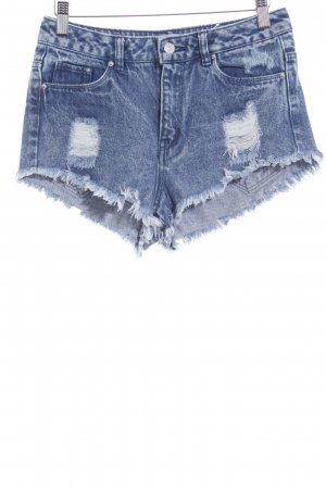 Hot pants blu aspetto di seconda mano