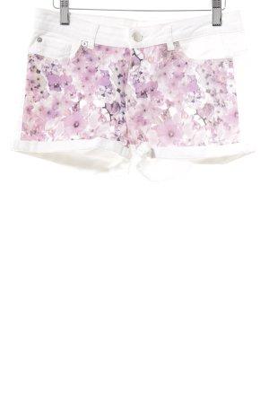 Hot Pants Blumenmuster Casual-Look