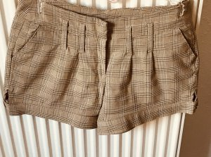 Hot Pants in beige/Gold/kariert