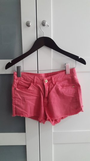 Hot Pants in coral pink Größe 34/36
