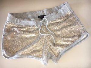 Hot Pants mit Perlietten in Metalloptik