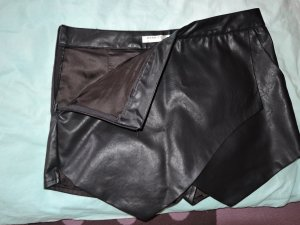 hot pants panty rock leder schwarz kurz mini