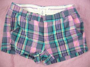 Hot Pants rosa/grün/blau kariert 100 % Baumwolle H&M XS 34