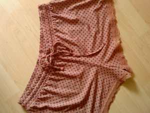 Hot Pants rosa mit Punkten L (40/42)