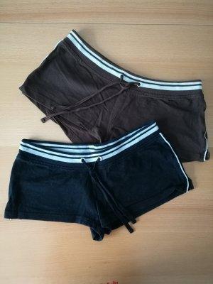 Hot Pants schwarz braun weiß