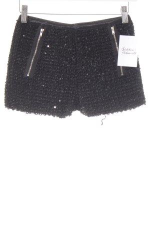 Hot Pants schwarz Glitzer-Optik