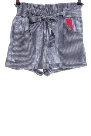 Hot Pants stahlblau-weiß Streifenmuster Casual-Look