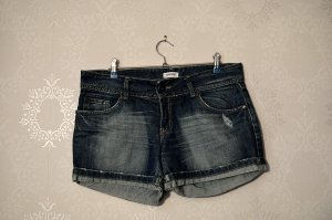 Hot Pants Used Look Stonewashed Jeans Denim
