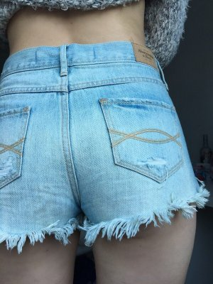 Abercrombie & Fitch Hot pants azzurro