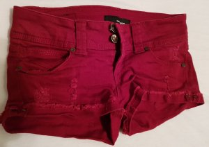 Tally Weijl Hot pants rosso scuro Cotone