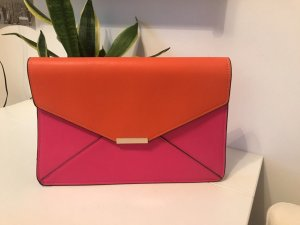 Hot pink/orange clutch