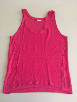 American Vintage T-shirts en mailles tricotées magenta lin