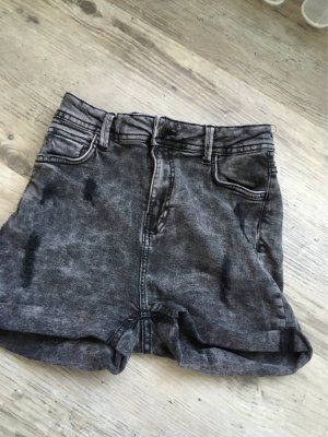 Bershka Hot pants donkergrijs-antraciet