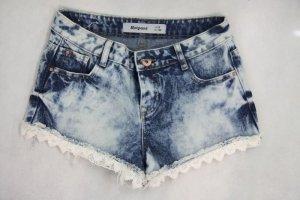 Hotpant Hose Damen Shorts Gr. 36 (S) Blau