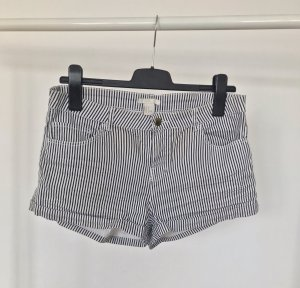 H&M Denim Shorts black-white