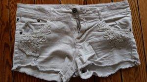 Bershka Hot Pants natural white