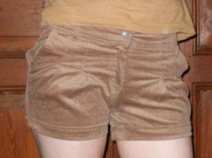 Hotpants cord hellbraun beige Gr. 34/36 XS S neu
