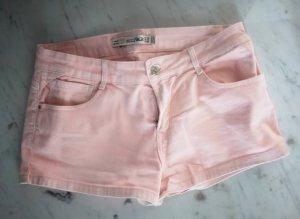 Hotpants Denim mit rosa Waschung