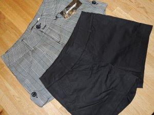 Hotpants gr. 36 /S H&M Fishbone schwarz karriert Hosen kurz