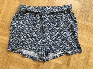 Hotpants in blau weiß / Gr. M