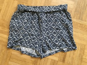 Hotpants in blau weiß / Gr. M