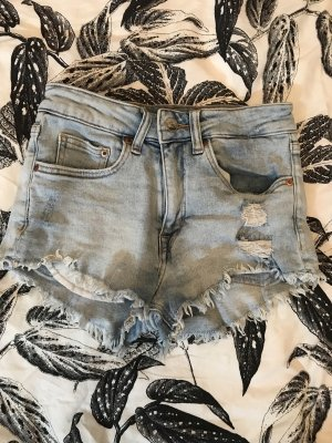 Hotpants Jeans hellblau