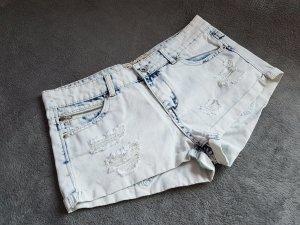 Hotpants Jeans Shorts Hellblau Used Look Gr. 40