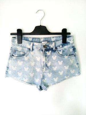 Hotpants Jeans Shorts Kurz Mickey Mouse Walt Disney