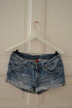 Hotpants Jeansshorts Used Look von H&M Größe 34