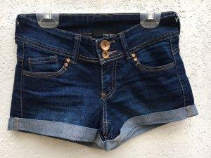 Tally Weijl Pantalón corto de tela vaquera azul oscuro