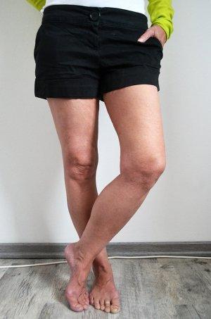 Hotpants Kurze Hose Shorts Stoffhose Tally Weijl Schwarz Basic Casual Sommer Lässig
