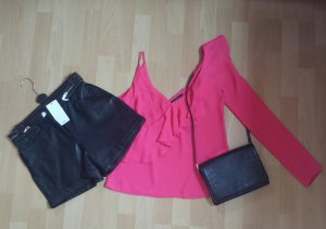 Hotpants Leder High Waist Neu Gr.34/36