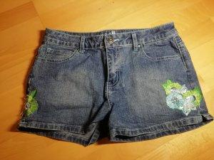 Hotpants mit Blumen