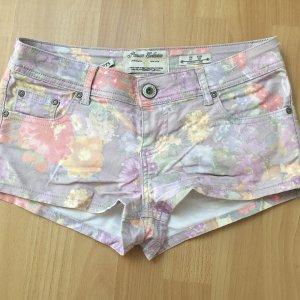Hotpants mit Blumenprint Größe 38