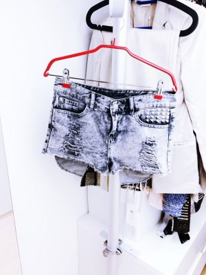 H&M Hot Pants grey-silver-colored