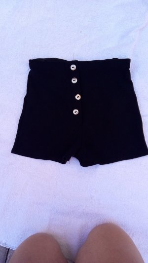 Short moulant noir-taupe polyamide
